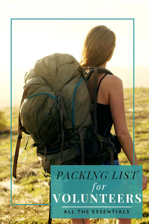 volunteer packing list